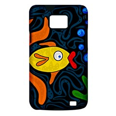 Yellow fish Samsung Galaxy S II i9100 Hardshell Case (PC+Silicone)