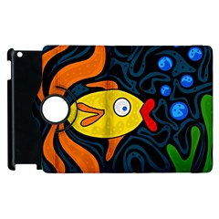 Yellow fish Apple iPad 3/4 Flip 360 Case