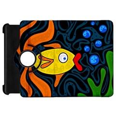 Yellow fish Kindle Fire HD Flip 360 Case