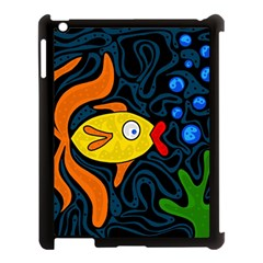 Yellow fish Apple iPad 3/4 Case (Black)