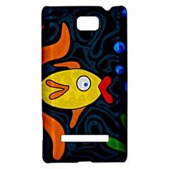Yellow fish HTC 8S Hardshell Case
