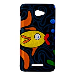 Yellow fish HTC Butterfly X920E Hardshell Case