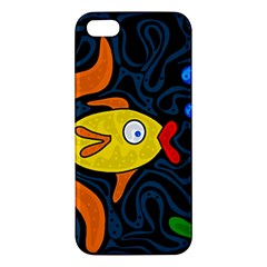 Yellow fish Apple iPhone 5 Premium Hardshell Case