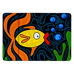 Yellow fish Samsung Galaxy Tab 8.9  P7300 Flip Case