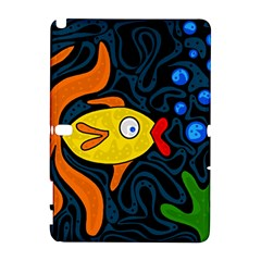 Yellow fish Samsung Galaxy Note 10.1 (P600) Hardshell Case