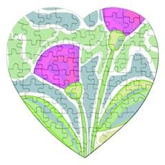 Purple Flowers Jigsaw Puzzle (heart)