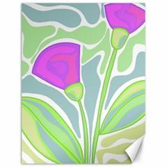 Purple flowers Canvas 12  x 16