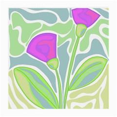 Purple flowers Medium Glasses Cloth (2-Side)