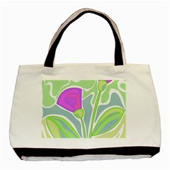 Purple flowers Basic Tote Bag (Two Sides)
