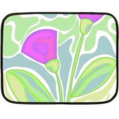 Purple flowers Fleece Blanket (Mini)