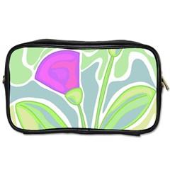 Purple flowers Toiletries Bags