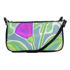 Purple flowers Shoulder Clutch Bags