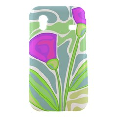 Purple flowers Samsung Galaxy Ace S5830 Hardshell Case