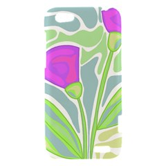 Purple flowers HTC One V Hardshell Case