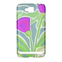 Purple flowers Samsung Ativ S i8750 Hardshell Case