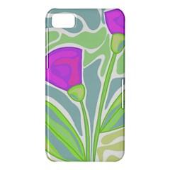 Purple flowers BlackBerry Z10