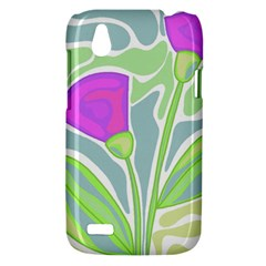 Purple flowers HTC Desire V (T328W) Hardshell Case