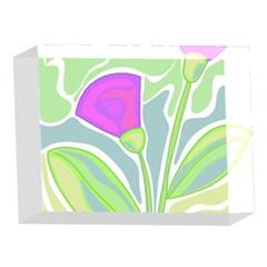 Purple flowers 5 x 7  Acrylic Photo Blocks