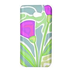 Purple flowers HTC Butterfly S/HTC 9060 Hardshell Case