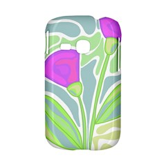 Purple flowers Samsung Galaxy S6310 Hardshell Case