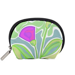 Purple flowers Accessory Pouches (Small)
