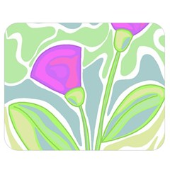 Purple flowers Double Sided Flano Blanket (Medium)