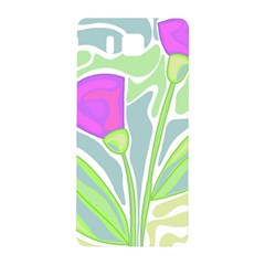 Purple flowers Samsung Galaxy Alpha Hardshell Back Case