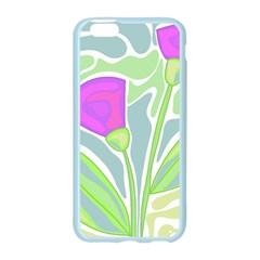 Purple flowers Apple Seamless iPhone 6/6S Case (Color)