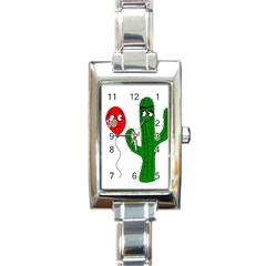 Impossible love  Rectangle Italian Charm Watch