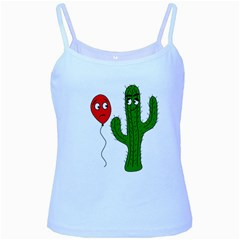 Impossible love  Baby Blue Spaghetti Tank