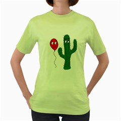 Impossible love  Women s Green T-Shirt
