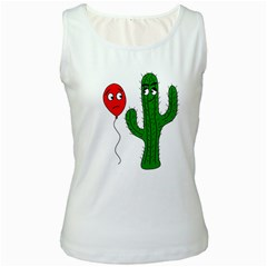 Impossible love  Women s White Tank Top