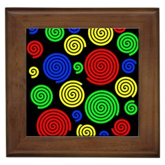 Colorful hypnoses Framed Tiles