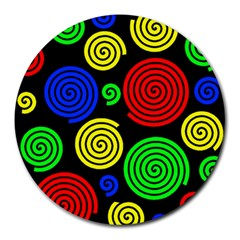 Colorful hypnoses Round Mousepads