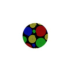 Colorful hypnoses 1  Mini Buttons