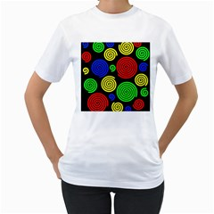 Colorful hypnoses Women s T-Shirt (White) (Two Sided)
