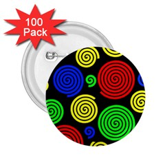 Colorful hypnoses 2.25  Buttons (100 pack)