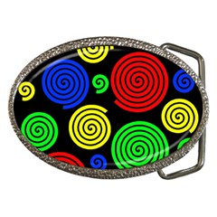 Colorful hypnoses Belt Buckles