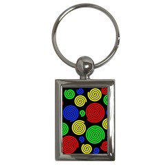 Colorful hypnoses Key Chains (Rectangle)