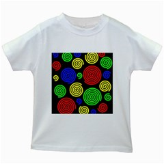 Colorful hypnoses Kids White T-Shirts