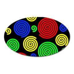Colorful hypnoses Oval Magnet