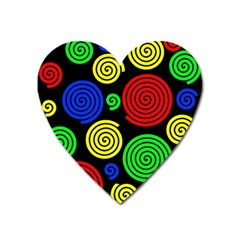 Colorful hypnoses Heart Magnet