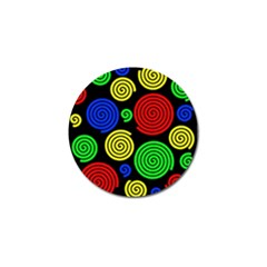 Colorful hypnoses Golf Ball Marker (4 pack)