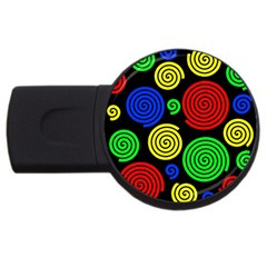 Colorful hypnoses USB Flash Drive Round (1 GB)