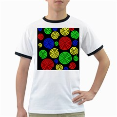 Colorful hypnoses Ringer T-Shirts