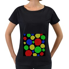 Colorful hypnoses Women s Loose-Fit T-Shirt (Black)