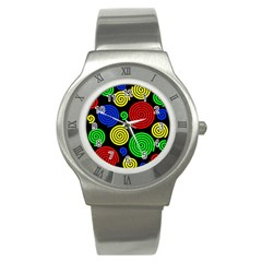 Colorful hypnoses Stainless Steel Watch