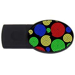 Colorful hypnoses USB Flash Drive Oval (4 GB)