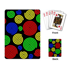 Colorful hypnoses Playing Card