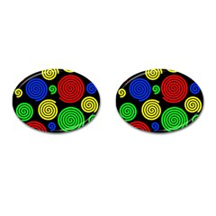 Colorful hypnoses Cufflinks (Oval)
